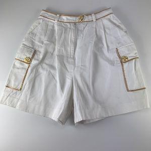 The Icing Sz 10 High Rise Shorts White Nautical